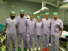 Equipe chirurgica della Clinica Ostetrica e Ginecologica dell'Irccs Burlo Garofolo